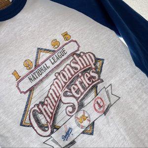 Vintage 1985 Dodgers Cardinals baseball tee shirt